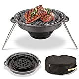 OaLt-t Barbecue Zwei Benutzer außerhalb tragbaren Antihaft-Carbon-Feuer-Grill Falt-Picknick Camping-Grill