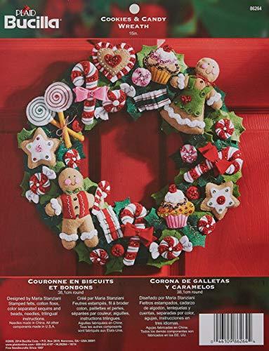 Bucilla Cookies and Candy Wreath Felt Applique Kit