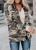 CORAFRITZ Chaqueta para mujer con estampado de camuflaje y camiseta de manga larga para mujer, blusa luna, chaqueta de camuflaje