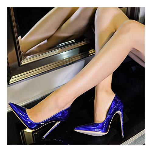 LOCGFF Tacones Altos para Mujer, Tacones Altos De Estilete Puntiagudos Sexy Europeos Y Americanos, Zapatos Individuales para Mujer OL, Tacón Alto 12CM, Forro Cómodo, EU34~45