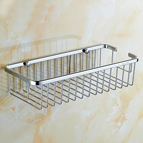 LXZ#Homegift Rack Shelf Handdoek Rack Douche Mand Rechthoekige Holle Rack Gratis Geperforeerde Wandmontage RVS Plate Racks Voor Badkamer Toilet Balkon Hotel