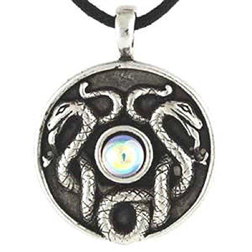 Celtic Snake Pendant Necklace Nathair Amulet