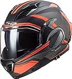 LS2, casco de moto modular VALIANT II revo titanio naranja, L
