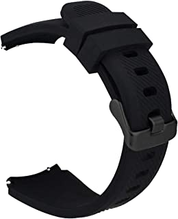 iBazal Cinturino Gear S3 Frontier Classic 22mm Silicone Braccialetto Cinghia Compatibile con Samsung Galaxy 46mm,Huawei Watch GT/2 Classic,Ticwatch PRO