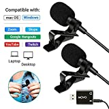Movo Sevenoak Dual Headed Universal USB Computer Microphone with USB Adapter - Compatible with Laptop, Desktop, PC and Mac, Smartphones, Cameras, Podcasting, Gaming, Remote Work and Laptop Microphone [並行輸入品]