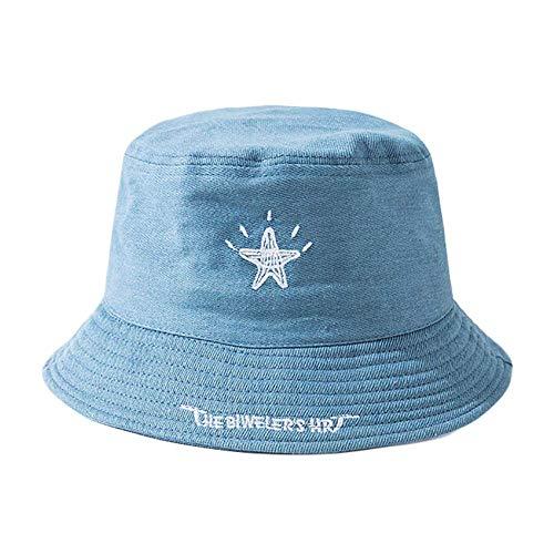 LQIQI Flat Cap Bucket Hats Packbarer Sonnenhut für Männer Frauen (Stickmuster)