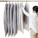 ASDFGG Cubiertas de Ropa Juego de 3 PEVA Tela Bolsos de Ropa Traje Bolsa de Vestidos Camisas Abrigos Incluye Cremallera Antipolvo (Color : Clear, Size : 3pcs*XXL)