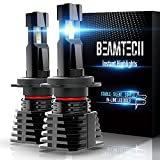 BEAMTECH H7 LED Bulb, Fanless In Line Halogen Replacement 6500K Xenon White