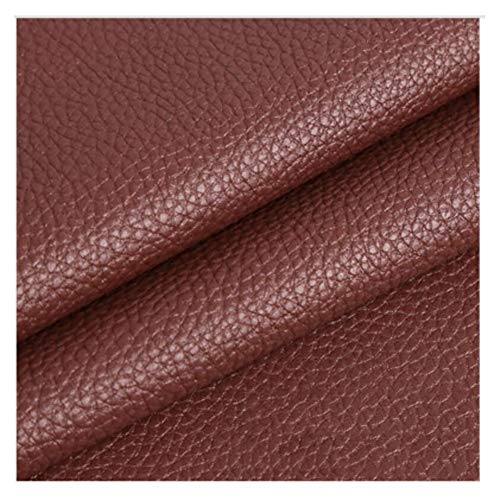wangk Polipiel Tela De Cuero Manualidades de Polipiel para tapizar Tela De Cuero Sintético PU Venta de Polipiel por Metros Ancho 1,6 m Multicolor-Marrón 1.38×1m