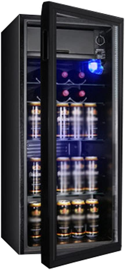 145W Vinotecas Vinoteca de Temperatura Constante Almacenamiento de Doble Zona,3 Capas de Vidrio Templado,Iluminación LED,Estante De Vidrio Ajustable,-2 ~ 15 ℃/75~161L/para Club De Ocio, Hogar.