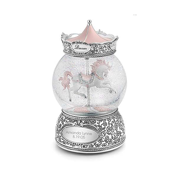 Things Remembered Personalized Carousel Horse Musical Snow Globe with Engraving Included 2