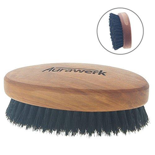Aurawerk Wildschwein Haar-Bürste Birnbaum-Holz, Herrenbürste, Männerhaarbürste mit weichen Borsten, Männerbürste