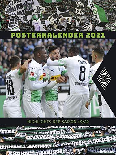 Borussia Mönchengladbach 2021 - Wandkalender XL - Fußballkalender - Fankalender - 48x64: Posterkalender