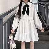 ZOULME Vestido Lolita, Camisa Streetwear Negra/Blanca Vestido Lolita para Mujer Dulce Lindo Kawaii Girls Teens A-Line Plisado Estilo japonés Ropa Mujer Falda Fiesta