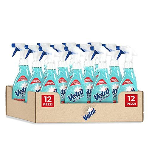 Vetril Spray Igienizzante Superfici, Contro Batteri e Cattivi Odori, Brillantezza Senza Aloni, 650 ml x 12 pezzi