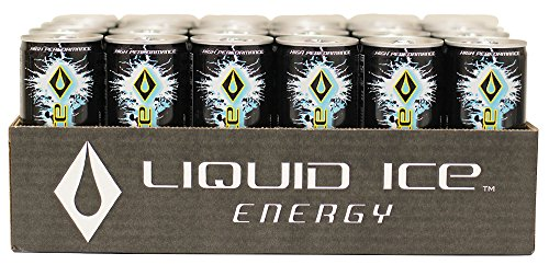 Liquid Ice Energy Drink Black, 8.3 Oz Cans, 24Count