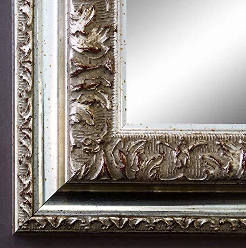Online Galerie Bingold Spiegel Wandspiegel Badspiegel Flurspiegel Garderobenspiegel - Über 200 Größen - Rom Silber 6,5 - Außenmaß des Spiegels 50 x 70 - Wunschmaße auf Anfrage - Antik, Barock
