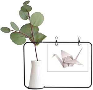 DIYthinker Geometric Origami Abstract Crane Pattern Metal Picture Frame Ceramic Vase Decor