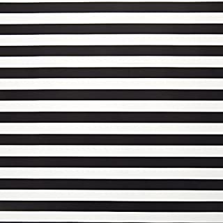 20 Ft Roll Bold Stripe Gift Wrap Paper Roll - Black and White - 30