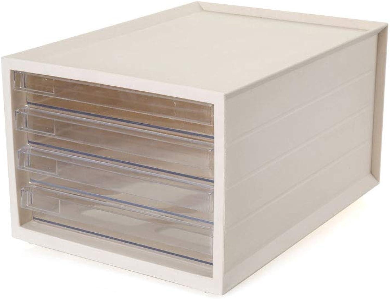 Desktop File Cabinet Transparent Plastic 4 Layer Drawer Storage Data Office Rack 3 colors and 2 Styles 27.5cm37.7cm21cm,5