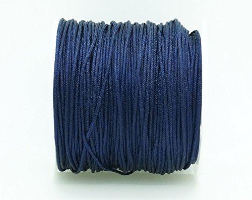ROYAL BLUE 1mm Chinese Knot Nylon Braided Cord Shamballa Macrame Beading Kumihimo String (40yards Spool)