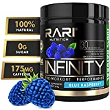 RARI Nutrition - INFINITY Preworkout - 100% Natural Pre Workout Powder - Keto and Vegan Friendly - Energy, Focus, and Performance - Men and Women - No Creatine - 30 Servings (Blue Raspberry)