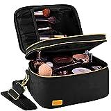 BQTQ Neceser Maquillaje Grande Bolsa de Maquillaje de Viaje Portátil Bolsa de Cosméticos para Mujer, Negro
