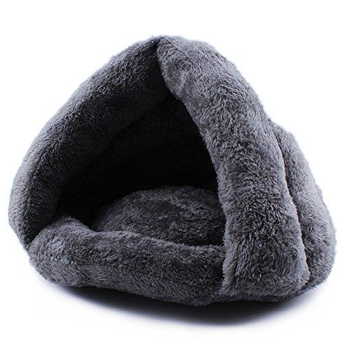 UMALL Kuschelhöhle für Katzen Katzenkorb Kuschelige Haustierbett Gepolstert Katzenbett In Und Outdoor Warm Cashmere Betten