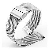 HANLILI kasu 18 20 22mm Soft Milanese Reloj de Reloj de Reloj de Reloj de reemplazo de la Banda de reemplazo de la Correa de Accesorios Encajar para Samsung Galaxy Watch 3 / Activo 2 Pulsera