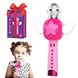Kids Karaoke Microphone for Girls Singing Machine , Voice Changer for Kids Toddler Microphone, Birthday Gift for Girl Toys Age 3 4 5