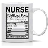 Datos nutricionales de la enfermera Taza divertida de...