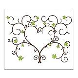 SwirlColor Vides de UVA 30 * 40cm Alternativa Libro de Invitados de la Boda de la Huella Digital del Pulgar Firma Pintura del árbol del árbol para la Boda (con Almohadilla de Tinta)