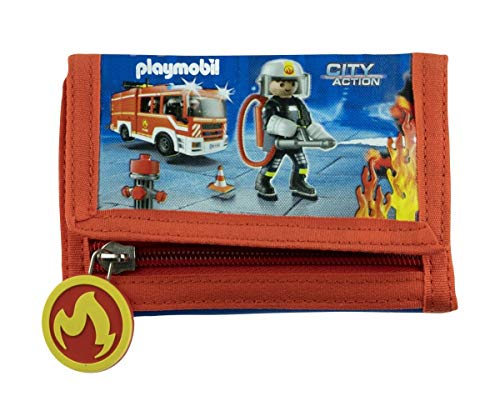 Geldbeutel Portemonnaie Geldbörse Playmobil Feuerwehr Wallet neu Schule