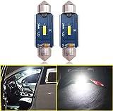 Eseastar - Bombillas LED Festoon de 39 mm, 12 V-24 V, C5 W, 38 mm, CANbus libre de errores para el interior del coche y más, 6000 K, color blanco