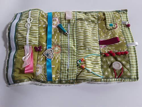 Convertible colourful sensory/fidget quilt/muff for dementia sufferers