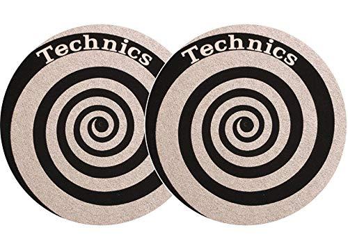 Slipmat Technics espiral plata doble Pack