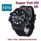 Cyber Express Electronics–Uhr Mini Kamera Spion 32GB 2K Super Full HD 2304x 1296P...