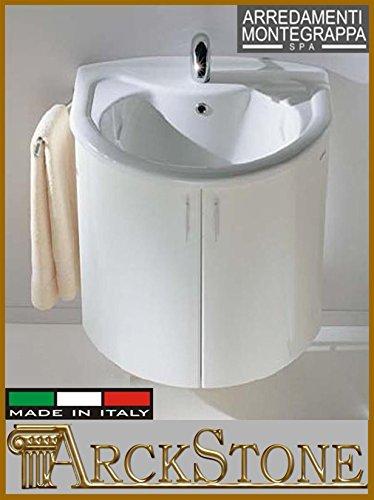 Waschbeckenunterschrank für Waschbecken, Möbel, Montegrappa Novella 75 cm, Weiß