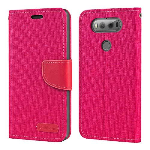 LG V20 H990DS Hülle, Oxford Leder Wallet Hülle mit Soft TPU Back Cover Magnet Flip Hülle für LG V20 H990DS