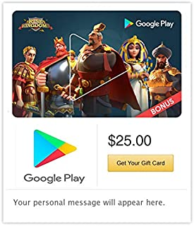 Google Play Gift Code - Email Delivery. Get up to a $75 bonus in Rise of Kingdoms (US only)