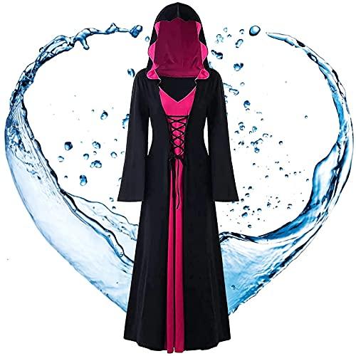 ERTLKP Vestido de Halloween Vampiro para mujer, estilo vintage, vestido de bruja medieval, vestido renacentista, vestido de bruja, vestido gótico para mujer, vestidos victorianos para mujer (B,L)