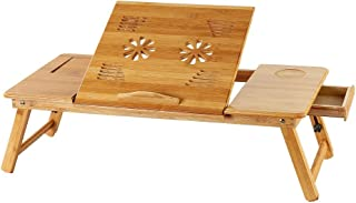 Laptop Desk Bamboo for Bed and Sofa, Portable Adjustable Laptop Desk Table Stand Up (Ship from USA) …