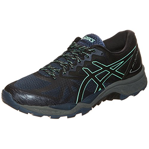 Asics Gel-Fujitrabuco 6 Trail, Zapatillas de Running para Mujer, Azul (Insignia Blue/Black/Ice Green), 37.5 EU