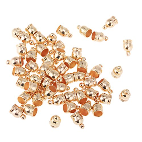 Pack of 50 Tassel Caps Hole Cord End Caps DIY Accessories Antique for Jewelry Making