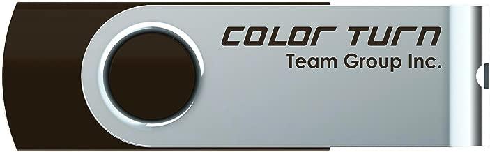 Team Group Color Turn E902 32GB USB Flash Drive - USB 2.0 Brown