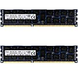 Timetec Hynix Original 32GB KIT(2x16GB) DDR3L 1600MHz PC3-12800 Registered ECC 1.35V CL11 2Rx4 Dual Rank 240 Pin RDIMM Server Memory RAM Module Upgrade (32GB KIT (2x16GB))