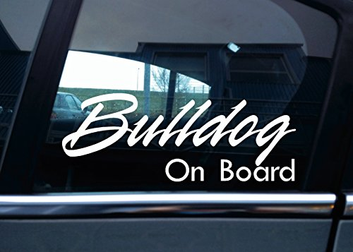 Bulldog On Board Hund, Auto Vinyl Aufkleber