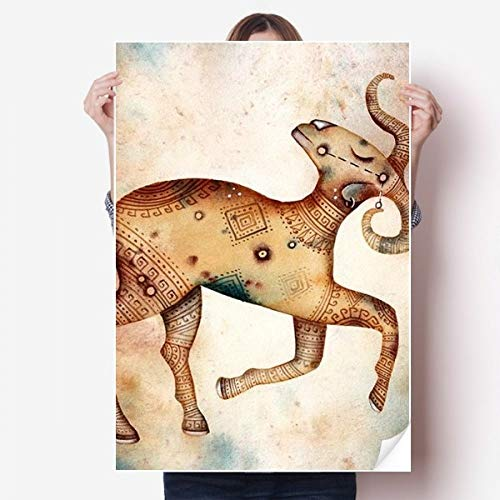 DIYthinker maart april Ram sterrenbeeld Zodiac Vinyl Muursticker Poster muurschildering behang kamer Decal 80X55Cm