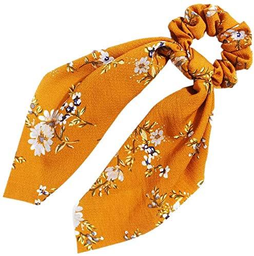 LYDIANZI Bowknot Hair Scrunchies Sjaal Haar Ties 2 In 1 Vintage Paardenstaart Houder Met Bows Haar Scrunchy Accessoires Ropes Voor Vrouwen