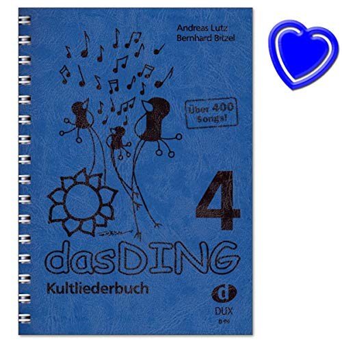Songbook für Gesang, Gitarre - DasDing 4 Kultliederbuch - über 400 bekannte Songs aus allen Musikrichtungen - mit Notenkl.
